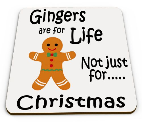 Gingers Are For Life Not Just Christmas Funny Novelty Glossy Mug Coaster